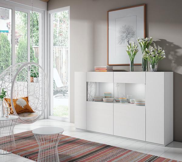 Aparador glass muebles peral muebles peral tienda de for Aparadores blancos modernos
